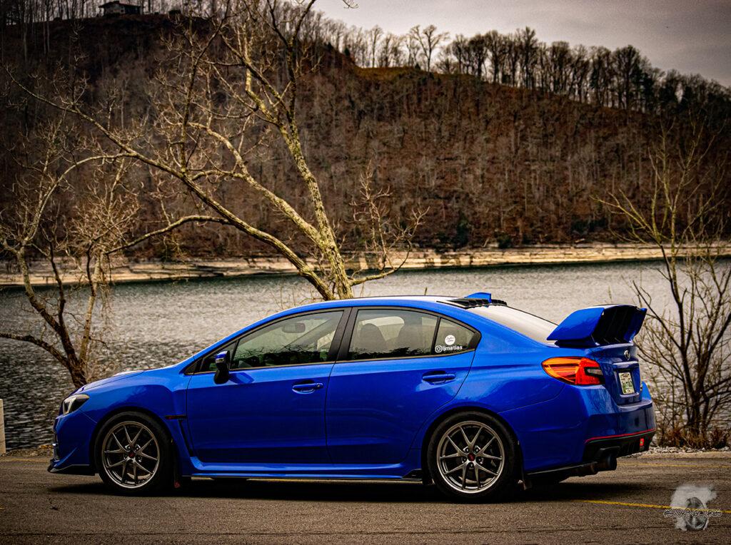 Blue WRX STI