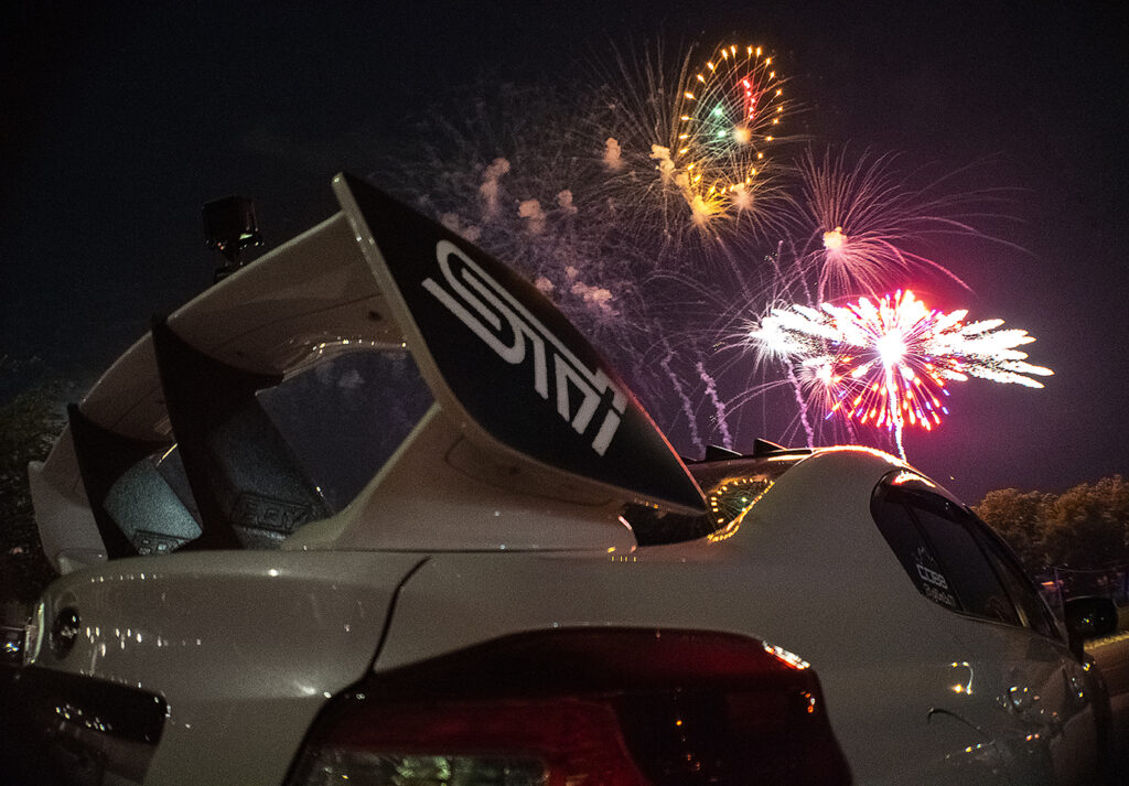 Suburu WRX STI July 4th Fireworks